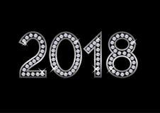 2018 αριθμοί πολυτέλειας Στοκ Εικόνες