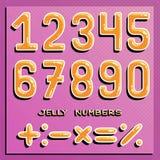 αριθμοί που τίθενται Αριθμοί μελιού αστείοι αριθμοί Διανυσματική τέχνη συνδετήρων Στοκ εικόνα με δικαίωμα ελεύθερης χρήσης