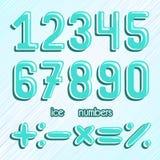 αριθμοί που τίθενται Αριθμοί πάγου Παγωμένοι αριθμοί διάνυσμα clipart Στοκ Εικόνες