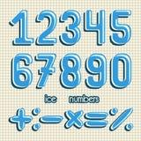 αριθμοί που τίθενται Αριθμοί πάγου Παγωμένοι αριθμοί διάνυσμα clipart Στοκ φωτογραφίες με δικαίωμα ελεύθερης χρήσης