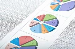αριθμοί πόρων χρηματοδότησης διαγραμμάτων Στοκ φωτογραφία με δικαίωμα ελεύθερης χρήσης