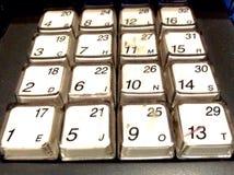 Αριθμοί πληκτρολογίων καταλόγων μετρητών Στοκ φωτογραφία με δικαίωμα ελεύθερης χρήσης