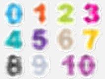 αριθμοί σημείων διανυσματική απεικόνιση