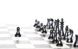 Αριθμοί σκακιού - έννοια στρατηγικής και ηγεσίας Στοκ Φωτογραφίες