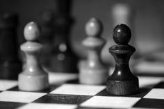 Αριθμοί σκακιού για μια σκακιέρα σε γραπτό Στοκ φωτογραφίες με δικαίωμα ελεύθερης χρήσης