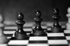 Αριθμοί σκακιού για μια σκακιέρα σε γραπτό Στοκ φωτογραφία με δικαίωμα ελεύθερης χρήσης