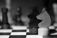 Αριθμοί σκακιού για μια σκακιέρα σε γραπτό Στοκ Εικόνες
