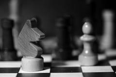 Αριθμοί σκακιού για μια σκακιέρα σε γραπτό Στοκ εικόνες με δικαίωμα ελεύθερης χρήσης