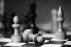 Αριθμοί σκακιού για μια σκακιέρα σε γραπτό Στοκ Εικόνα