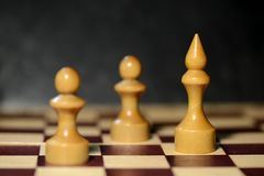 Αριθμοί σκακιού για μια σκακιέρα Στοκ Φωτογραφία
