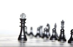 Αριθμοί σκακιού - στρατηγική και ηγεσία Στοκ Εικόνα