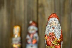 Αριθμοί σοκολάτας Χριστουγέννων σε ένα περιτύλιγμα Στοκ εικόνα με δικαίωμα ελεύθερης χρήσης