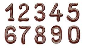 Αριθμοί σοκολάτας Στοκ Εικόνες