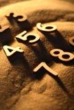 Αριθμοί στην άμμο Στοκ φωτογραφία με δικαίωμα ελεύθερης χρήσης