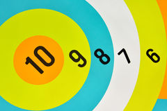 Αριθμοί στον πίνακα βελών Στοκ φωτογραφία με δικαίωμα ελεύθερης χρήσης