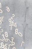 Αριθμοί στο υπόβαθρο Στοκ Εικόνες