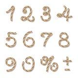 Αριθμοί σχοινιών Στοκ Εικόνες