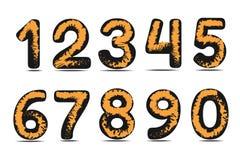 Αριθμοί τέχνης στο άσπρο υπόβαθρο Στοκ φωτογραφία με δικαίωμα ελεύθερης χρήσης