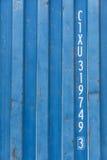 Αριθμοί ταυτότητας στο εμπορευματοκιβώτιο Στοκ Εικόνες