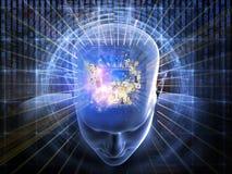 Αριθμοί του μυαλού διανυσματική απεικόνιση