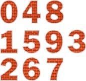 αριθμοί τούβλου Στοκ εικόνα με δικαίωμα ελεύθερης χρήσης