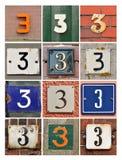Αριθμοί τρία στοκ φωτογραφίες με δικαίωμα ελεύθερης χρήσης