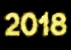 2018 αριθμοί φω'των διανυσματική απεικόνιση