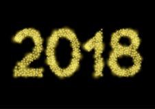 2018 αριθμοί φω'των Στοκ εικόνα με δικαίωμα ελεύθερης χρήσης