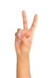 Αριθμοί 2 δάχτυλων Στοκ φωτογραφία με δικαίωμα ελεύθερης χρήσης