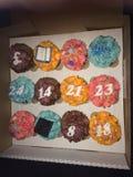 Αριθμοί Cupcake Στοκ εικόνα με δικαίωμα ελεύθερης χρήσης
