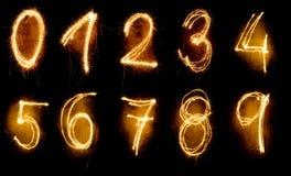 Αριθμοί Sparkler Στοκ εικόνα με δικαίωμα ελεύθερης χρήσης