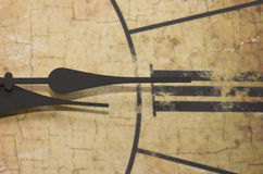 αριθμοπαράσταση Ρωμαίος ρολογιών Στοκ Φωτογραφία