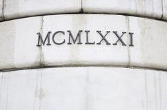αριθμοπαραστάσεις Ρωμαίος Στοκ φωτογραφία με δικαίωμα ελεύθερης χρήσης