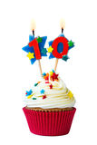 Αριθμός δέκα cupcake στοκ εικόνες