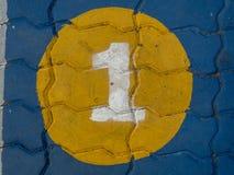 Αριθμός ένας στο πάτωμα Στοκ φωτογραφίες με δικαίωμα ελεύθερης χρήσης