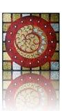 Αριθμός ένας στο ταϊλανδικό ύφος με το χρυσό & ασημένιο τετράγωνο Στοκ Εικόνα