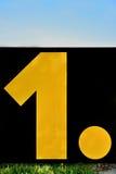 Αριθμός ένα… Στοκ εικόνες με δικαίωμα ελεύθερης χρήσης