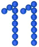 Αριθμός 11, ένδεκα, από τις διακοσμητικές σφαίρες, που απομονώνονται στη λευκιά ΤΣΕ Στοκ εικόνες με δικαίωμα ελεύθερης χρήσης
