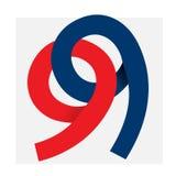 Αριθμός απομονωμένο απεικόνιση logo_99 anniversay ή περισσότερο απεικόνιση αποθεμάτων