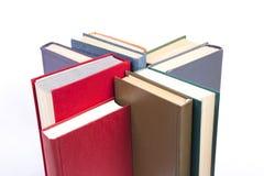Αριθμός από τα βιβλία με τις καλύψεις χρώματος Στοκ Φωτογραφίες