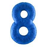 Αριθμός 8 από το μπλε αισθητό Στοκ εικόνες με δικαίωμα ελεύθερης χρήσης