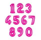 Αριθμός από το ρόδινο χρώμα μπαλονιών Στοκ Εικόνα