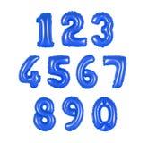 Αριθμός από το σκούρο μπλε χρώμα μπαλονιών Στοκ Φωτογραφία