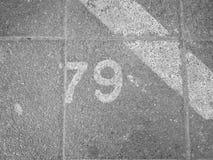 Αριθμός αυλάκωσης χώρων στάθμευσης για τη μοτοσικλέτα ή το ποδήλατο Στοκ εικόνα με δικαίωμα ελεύθερης χρήσης
