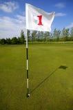 αριθμός γκολφ σημαιών ένας Στοκ εικόνα με δικαίωμα ελεύθερης χρήσης