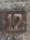 Αριθμός 12 διεύθυνση Στοκ εικόνα με δικαίωμα ελεύθερης χρήσης