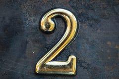 Αριθμός δύο που γράφει Στοκ εικόνα με δικαίωμα ελεύθερης χρήσης