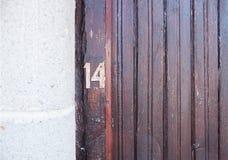 Αριθμός δεκατέσσερα στοκ φωτογραφία