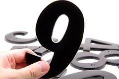 αριθμός εκμετάλλευσης 9 χεριών Στοκ εικόνα με δικαίωμα ελεύθερης χρήσης