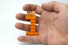 Αριθμός εκμετάλλευσης χεριών ένας Στοκ εικόνα με δικαίωμα ελεύθερης χρήσης